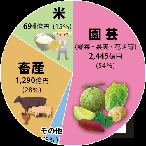 農業円グラフ